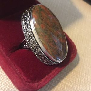 Jewelry - Fabulous Unakite gemstone Ring